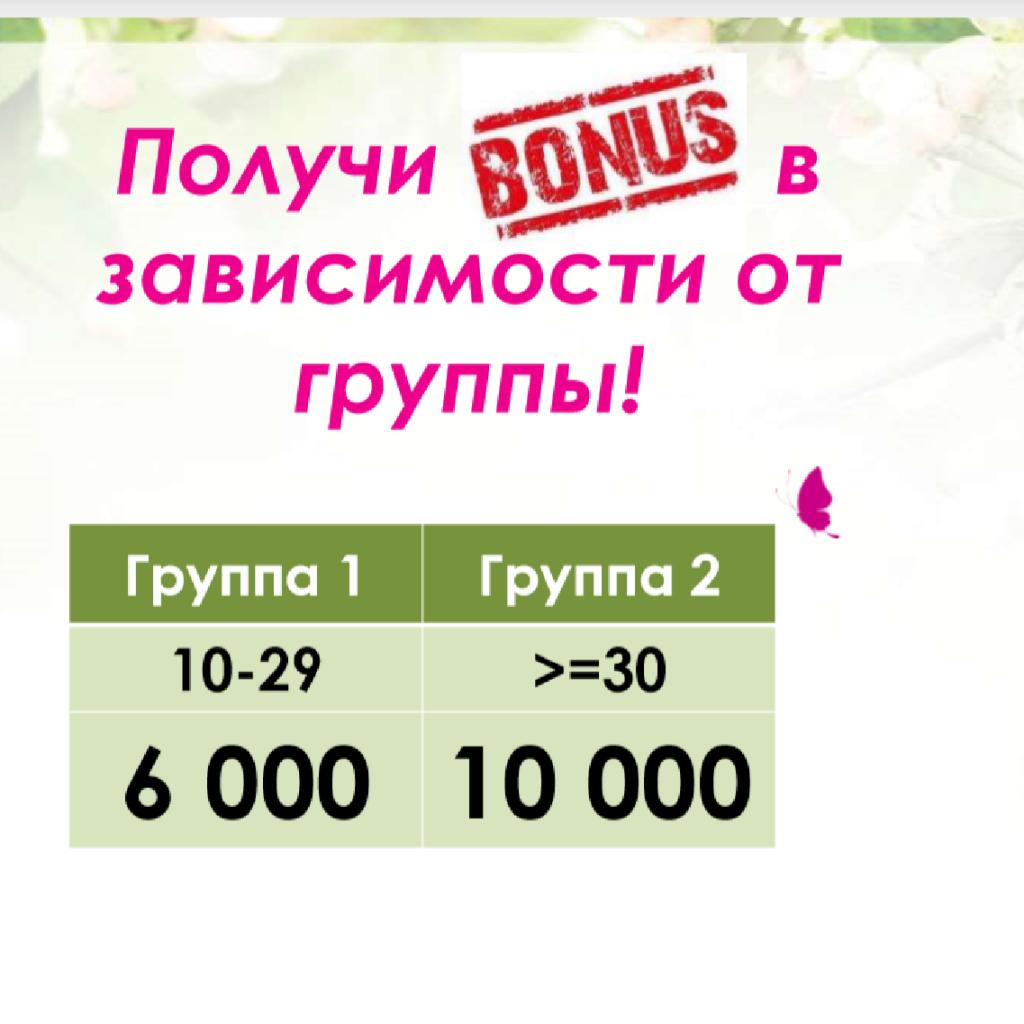 Бонусы по программе На крыльях успеха